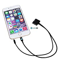 Gizmomix ,Black 8 Pin to 30 Pin Audio Dock Cable / Connector / Adapter / Converter Designed for Apple iPhone 3 / 3GS / 4 / 4S to Apple iPhone 5 / 5S / 5C / 6 / 6 Plus, iPad 4, iPad Air 1 /2, iPad Mini 1 / 2 / 3, iPod Touch 5, iPod Nano 7 for Audio Docking stations, Charging and Syncing - by Gizmomix
