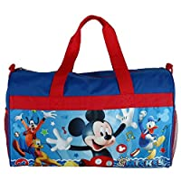 "Boys 18"" Mickey Mouse Blue/Red Duffel Bag Standard"
