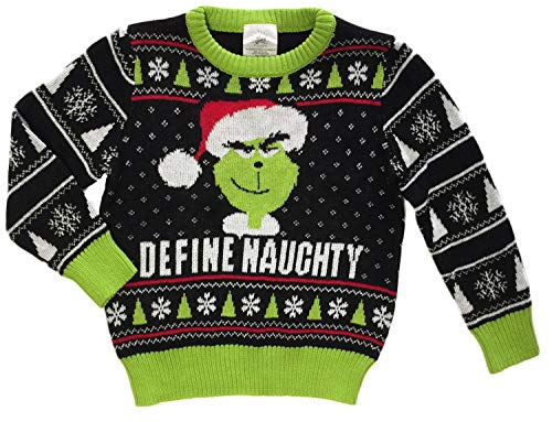 The Grinch Little Boys Toddler Define Naughty Sweater (4T) -