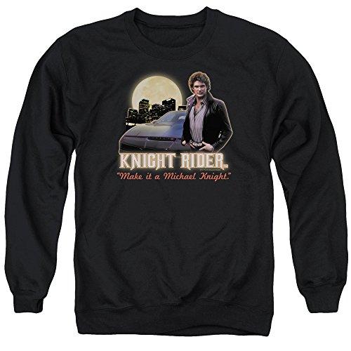 Knight Rider Full Moon Unisex Adult Crewneck Sweatshirt for Men and Women, Medium Black - Knight Sweatshirt T-shirt
