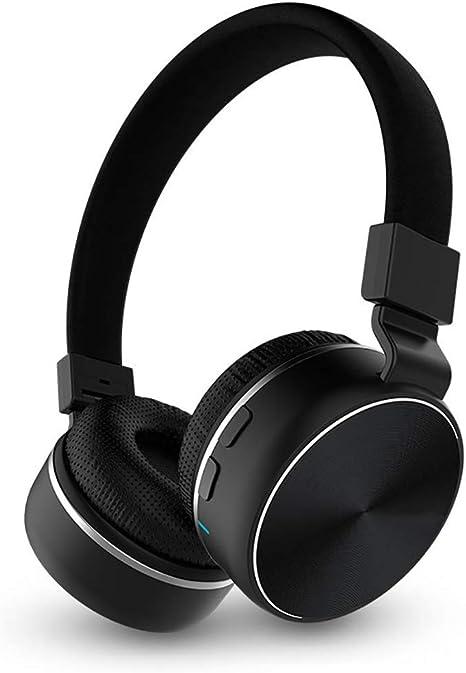 SONGSS Auriculares, con Cable inalámbrico 3.5mm Bluetooth 4.1, 40MM Dinámico, Compatible con teléfonos móviles y tabletas convencionales como iPhone/Samsung/HTC y Smart TV (Color : Negro): Amazon.es: Deportes y aire libre
