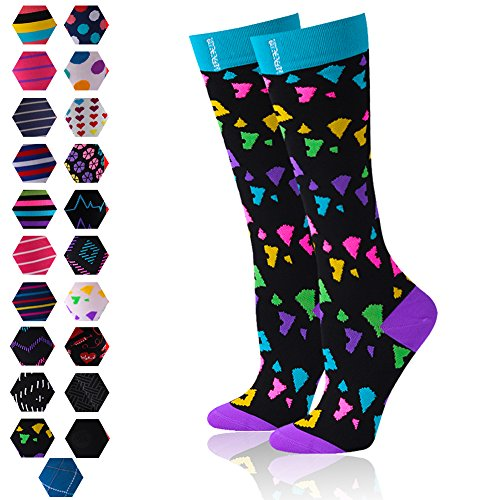 109b003404 Galleon - Fashion Compression Socks For Men & Women – BEST Medical Grade  Graduated Recovery Stockings For Nurses, Maternity, Running, Leg Relief, ...