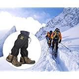 High Thicken Snow Leg Gaiters, Oumers Winter keep Warm Waterproof Breathable Wraps Leg Boot Covers For Hiking Ski Climbing Hunting Walking Snowboard Snowshoeing Mountaineering Ice Equipment