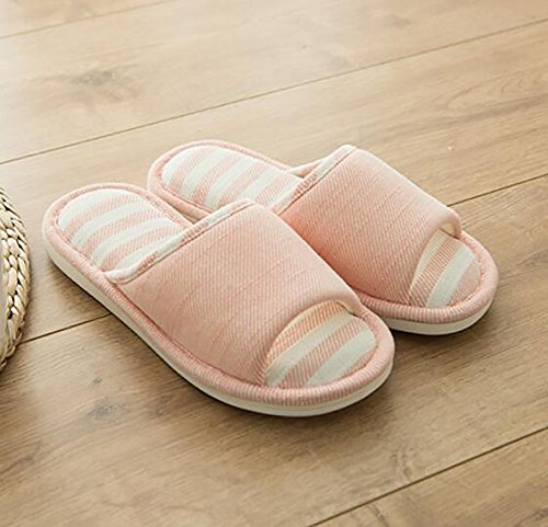 Bottom Slip Couple Non Soft 250Cm Summer Household Pink Slippers Flip Stripe Indoor 38 Flops 39 Green d0wFFX1q