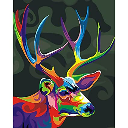 Paint By Numbers For Adults Diy Art Kit With Acrylic Paints Brushes And Canvas For Abstract Animal Art Painting And Crafts For Beginners And Kids