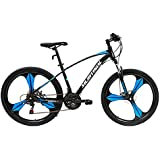 Murtisol Mountain Bikes Aluminum Mag Wheels Mountain Bicycles Hybrid Bikes with Designed Frame, 21 Speeds, Dual Disk Brake 3 Color