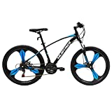 Murtisol Mountain Bikes Aluminum Mag Wheels Mountain Bicycles Hybrid Bikes with Designed Frame, 21 Speeds, Dual Disk Brake, Shimano Derailleur 3 Color