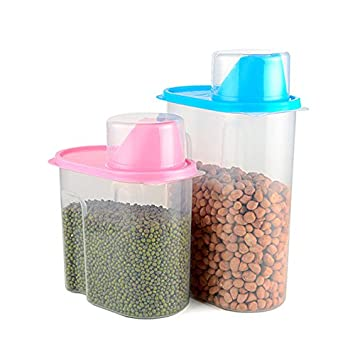 Lenze Plastic Transparent Kitchen Food Cereal Grain Bean Rice