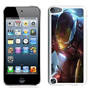 Beautiful Unique Designed iPod Touch 5 Phone Case With Iron Man Illustration_White Phone Case