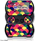 Brushed Cirlces Multi Dark - Decal Style Skins (fits Sony PSPgo)