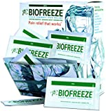 Biofreeze Pain Relief Gel, 5mL Packet, 100 Count Box, Original Green Formula, Pain Reliever