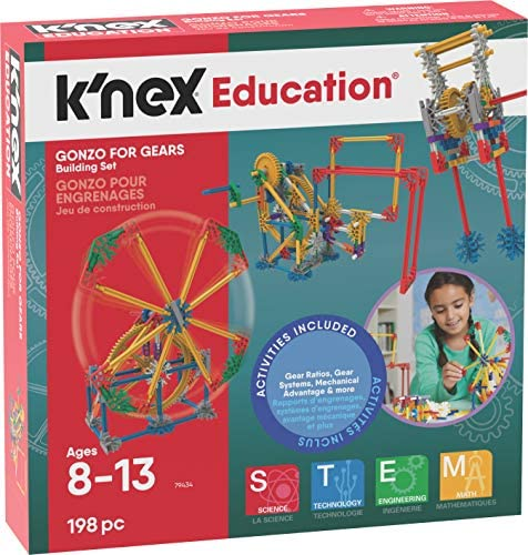 K'NEX Gonzo For Gears Ages 8+ Engineering Education Toy Building Sets (198 Piece) (Amazon Exclusive)