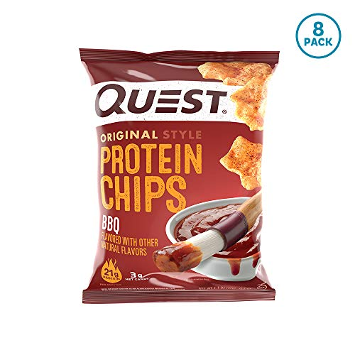 - Quest Nutrition BBQ Protein Chips, Low Carb, Gluten Free, Soy Free, Potato Free, Baked, 8 Count