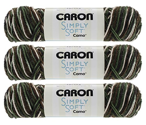 Bulk Buy: Caron Simply Soft Camo Yarn (3-Pack) Mash Camo 294011-11482