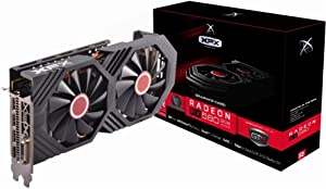XFX Radeon RX 580 GTS Black Edition PCI Express 3.0 1425MHz OC+ 8GB GDDR5 VR Ready Grapics Card (1 x DL DVI-D /1 x HDMI /3 x DisplayPort) RX-580P8DBDR