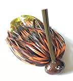 Screwy Lewy Lures Football Bass Jigs with Craw Trailer (Hot Craw, 1/4 oz)