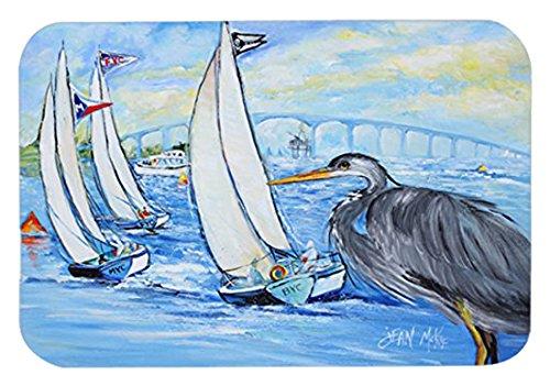 Caroline 's TreasuresブルーHeron Sailboats犬川ブリッジマウスパッド/ホットパッド/五徳( jmk1001mp )   B00W3WIX20