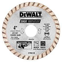 DEWALT DW4724B 4-Inch High Perf Masonry Blade