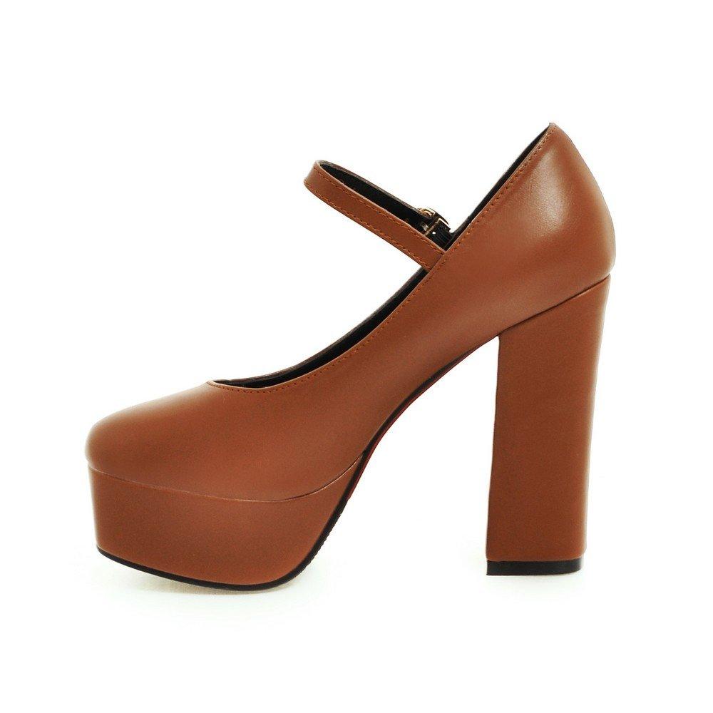 AIWEIYi Women Pumps Square toe Ankle Strap Heel High Heel Strap Platform Dress Shoes B01N6JOTYV Platform 66c381