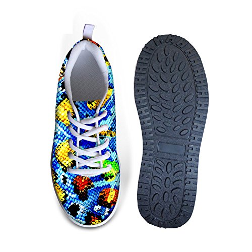Shoes Walking Snakeskin Toning High 1 Lady Bigcardesigns Fitness Fashion Platform apqA0w7A