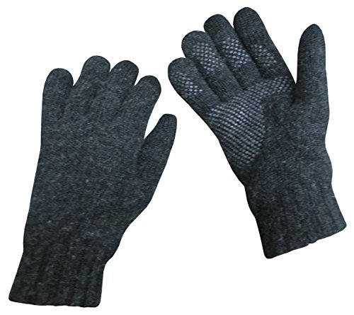 N'Ice Caps Mens Merino Wool Touchscreen Gloves (Medium/Large, Black)