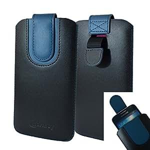 Amazon.com: Emartbuy Black/Dark Blue Premium PU Leather ...