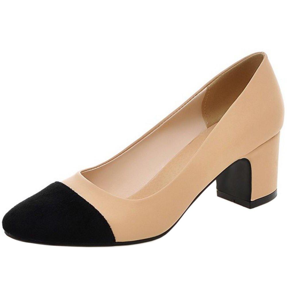 Zanpa Damen Mode Pumps Mid Heel41 EU|2#ivory