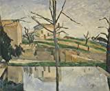 Oil Painting 'The Pool At Jas De Bouffan,1878 By Paul Cezanne', 8 x 10 inch / 20 x 24 cm , on High Definition HD canvas prints is for Gifts And Bar, Bed Room And Study Room Decoration
