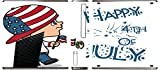 Cute Boy with American Flag Hat Happy 4th of July Quote Celebration Image Design Pattern Xbox 360 Slim (2010) Vinyl Decal Sticker Skin by Trendy Accessories
