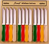 Fixwell 12-Piece Stainless Steel Knives Set, Multicolor