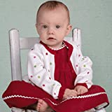 Zubels 100% Hand-Knit Cardigan Sweater With Polka