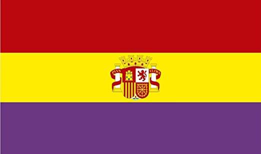 Durabol Bandera de la Republica Española con Escudo 150 * 90 cm Spain Flag: Amazon.es: Jardín