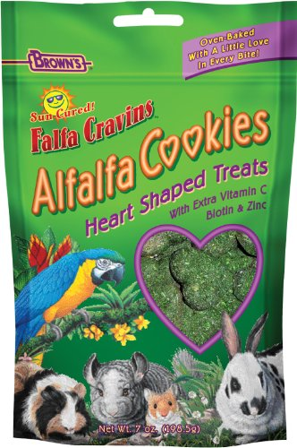 F.M. Brown's Falfa Cravins Heart-Shaped Alfalfa Cookies, 7-Ounce (Alfalfa Treats)