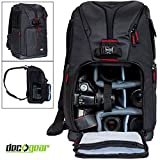 Deco Gear Photographers Sling Backpack for Cameras and Accessories with 15