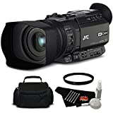 JVC GY-HM170UA Ultra 4K HD CAM Compact Professional Camcorder with Top Handle Audio Unit Bundle with UV Filter
