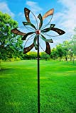 Evergreen Glow Dot Peaceful Petals Kinetic Garden Stake