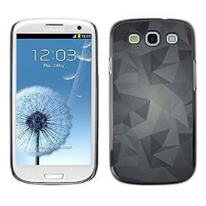 rígido protector delgado Shell Prima Delgada Casa Carcasa Funda Case Bandera Cover Armor para Samsung Galaxy S3 I9300 /Pattern Grey Gray Android/ STRONG