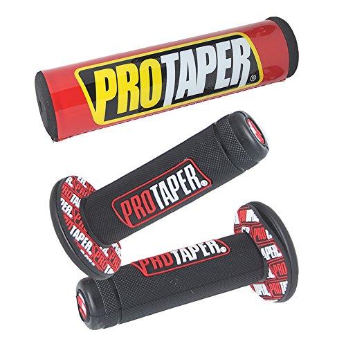 Universal Handle Grips & Pads Set Pro Taper Handlebar Pad fit Dirt Pit Bike Motorcross 7/8 inch Rubber GEL Hand Grips ()