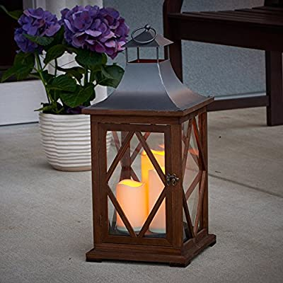 Smart Living Portland 22 in. Indoor/Outdoor Triple LED Candle Lantern