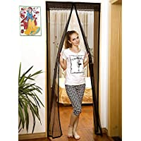 COZY&EASY 39x83 Inch Magnetic Fly Screen Door with Updated Dense Mesh and Gravity Sticks at The Bottom, Full Frame Sewn…