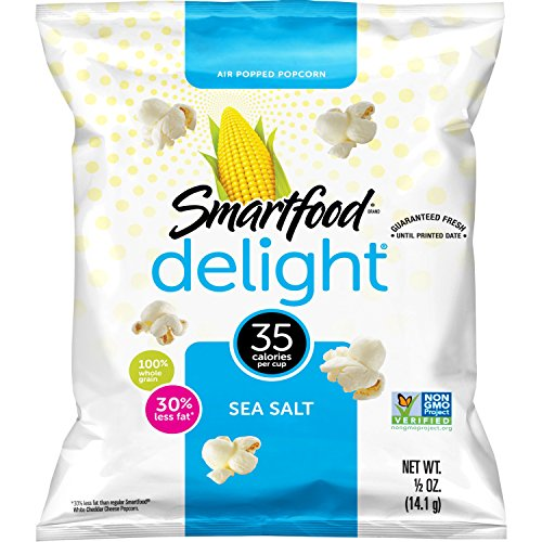Smartfood Delight Sea Salted Popcorn, 0.5 Ounce Bags, Pack of 36 ()