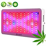 300W Full Spectrum LED Grow Lamp, LED Plant Light 300W Grow Lamp with UV IR for Plants Teas Indoor Veg Flower Garden Angiosperms Hydroponic Greenhouse All Phases of Plant Growth US Plug (3W LEDs)