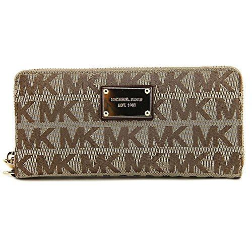 MICHAEL Michael Kors Jet Set Travel Continental Wallet (Beige/Ebony/Mocha) by MICHAEL Michael Kors (Image #3)