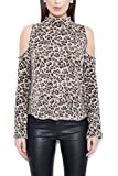 Generation Love Women's Cold-Shoulder Lena Cashmere Top - Leopard - M