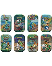 Pokémon USA, Inc. | Pokemon TCG: Vieringen Mini Blikken (25e Anniv) 8 ct Display | Kaartspel | Leeftijd 6+ | 2 Spelers | 20+ Minuten Speeltijd