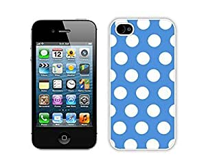 Element Apple iPhone 5c White Case Durable Soft Silicone TPU Polka Dot Blue and White Speck Cell Phone Case Cover for Iphone 5c