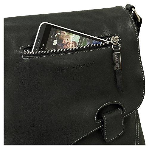 à Ledershop24 à porter Sac noir l'épaule pour femme qw8ZX