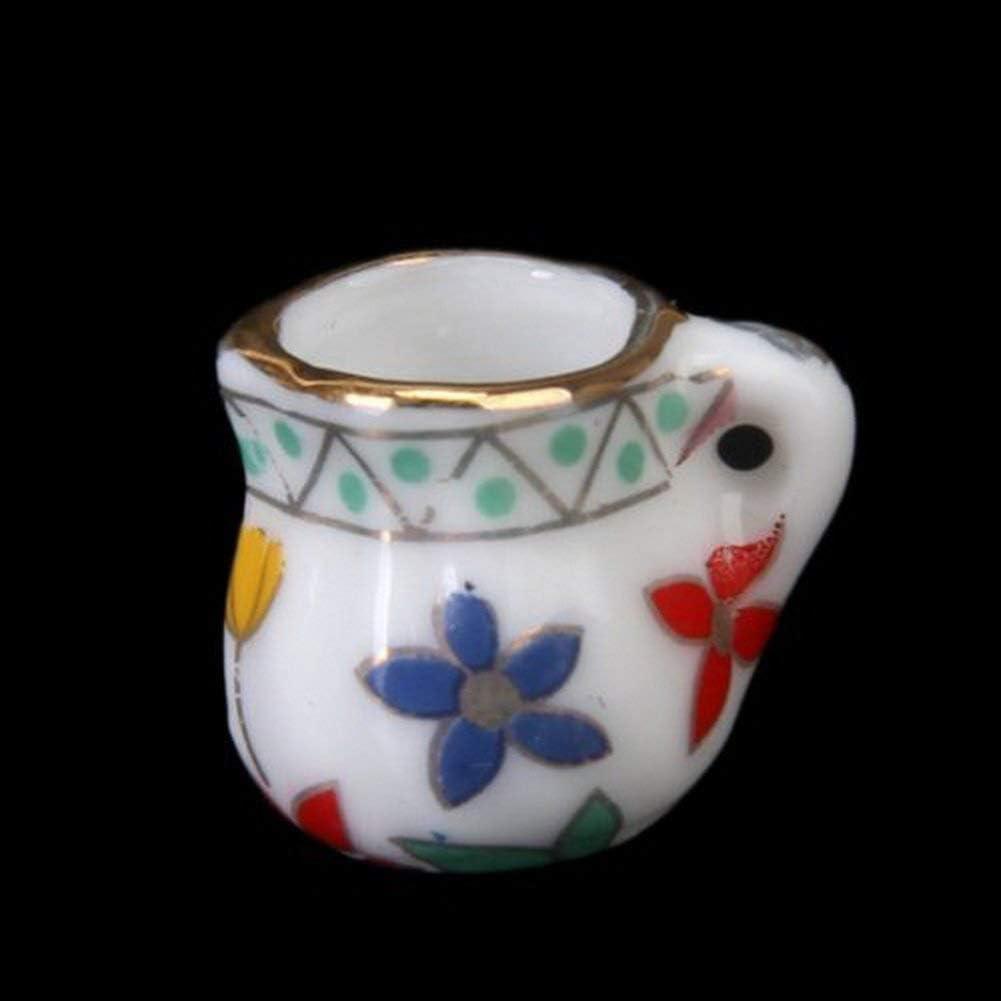 Romote 15pcs 1//12 Maison de poup/ée Miniature /à th/é Coupe /à th/é en Porcelaine pour Maison de Poup/ée Meubles Mur en c/éramique Poudre de Maison de Poup/ée Accessoires