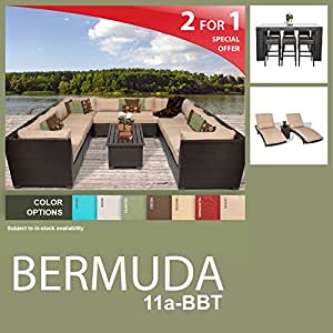 Bermuda 21 Piece Outdoor Wicker Patio Furniture Package BERMUDA-11a-BBT