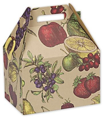 Fruit Bowl Large Gable Boxes, 9 x 6 x 6'' (100 Boxes) - BOWS-BX5107L by Miller Supply Inc